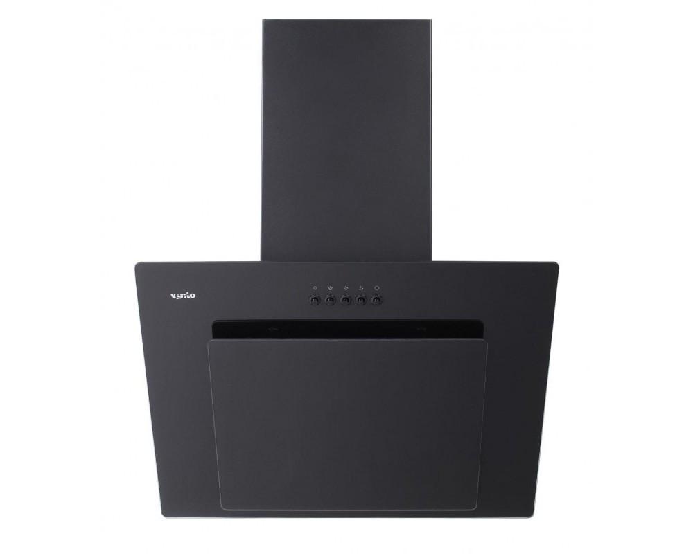 Наклонная вытяжка Ventolux FIORE 60 BK (750) PB черного цвета