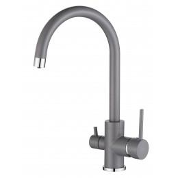 Смеситель Aquasanita на кухню Sabiaduo 2963-202 alumetallic