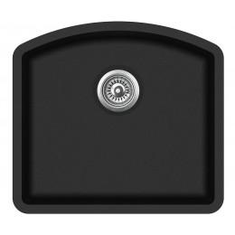 Мойка AquaSanita Arca SQA103/ 601 black metallic
