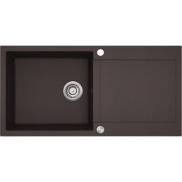 Кухонная мойка AquaSanita TESA SQT 103 - 120 Cerrus - Dark Brown