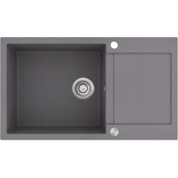 Кухонная мойка AquaSanita TESA SQT 104 - 202 Alumetallic - Cold Grey