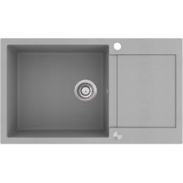 Кухонная мойка AquaSanita TESA SQT 104 - 220 Argent - Warm concrete