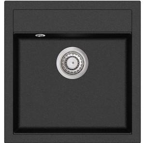 Кухонная мойка AquaSanita TESA SQT 100 - 601 Black metallic