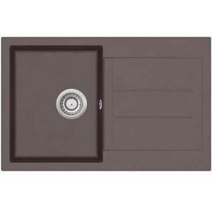 Кухонная мойка AquaSanita TESA SQT 101 - 120 Cerrus Dark Brown