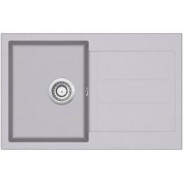 Кухонная мойка AquaSanita TESA SQT 101 - 202 Alumetallic - Cold Grey