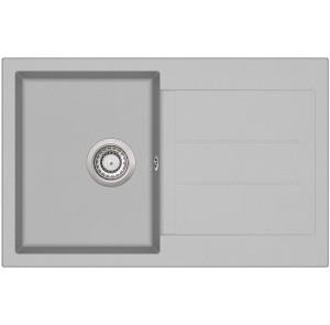 Кухонная мойка AquaSanita TESA SQT 101 - 220 Argent - Warm concrete