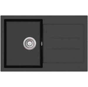 Кухонная мойка AquaSanita TESA SQT 101 - 601 Black metallic