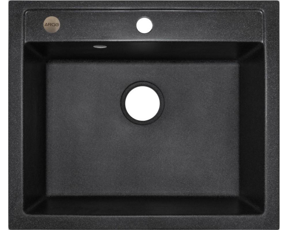 Кухонная мойка Argo Cubo 590 Black