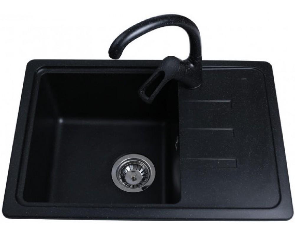 Гранитная мойка Bretta Compact 620 x 435 Black