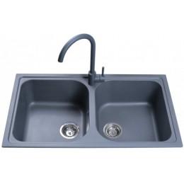 Кухонная мойка Bretta Longran Metallic Gray