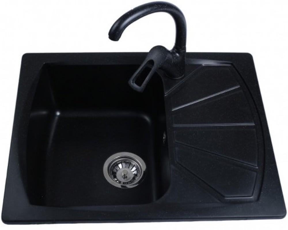 Гранитная мойка Bretta Tera Black 610 x 500
