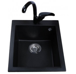 Кухонная мойка BRETTA Quadro 500 x 410 Black