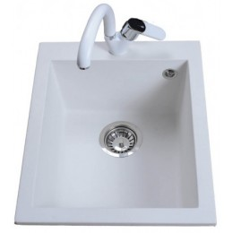 Кухонная мойка BRETTA Quadro 500 x 410 White