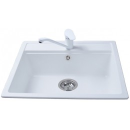 Кухонная мойка BRETTA UNIVERSAL 570 x 510 White