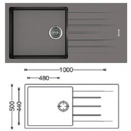 Кухонная мойка Classic 100x50 Beton
