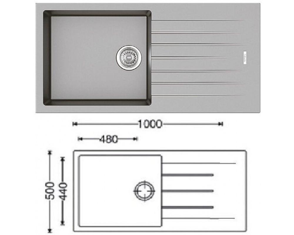 Мойка кухонная Fabiano Classic 100x50 Grey Metallic