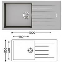 Кухонная мойка Classic 100x50 Grey Metallic