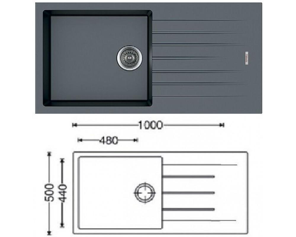 Мойка кухонная Fabiano Classic 100x50 (Titanium)