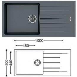 Кухонная мойка Classic 100x50 (Titanium)