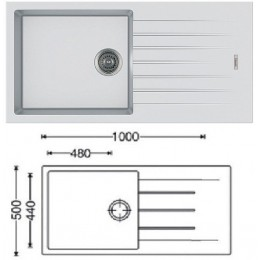Кухонная мойка Classic 100x50 (Alpine White)