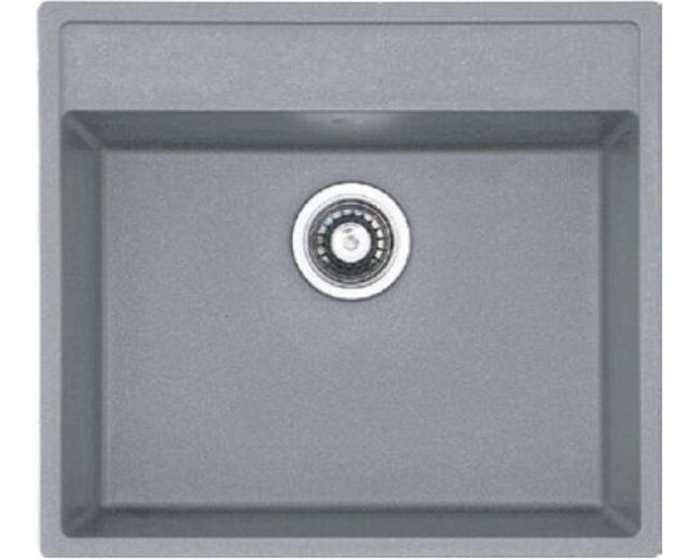 Гранитная кухонная мойка Fabiano Quadro 56x51 Grey Metallic