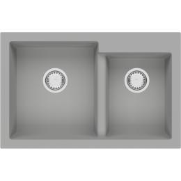 Кухонная мойка Fabiano Quadro 79x51x2 Grey Metallic