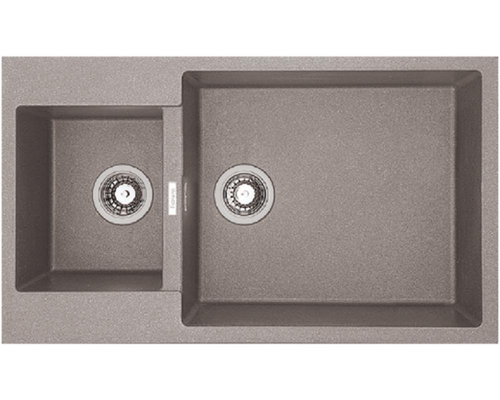 Каменная кухонная мойка Fabiano Quadro 86x50x15 Beton