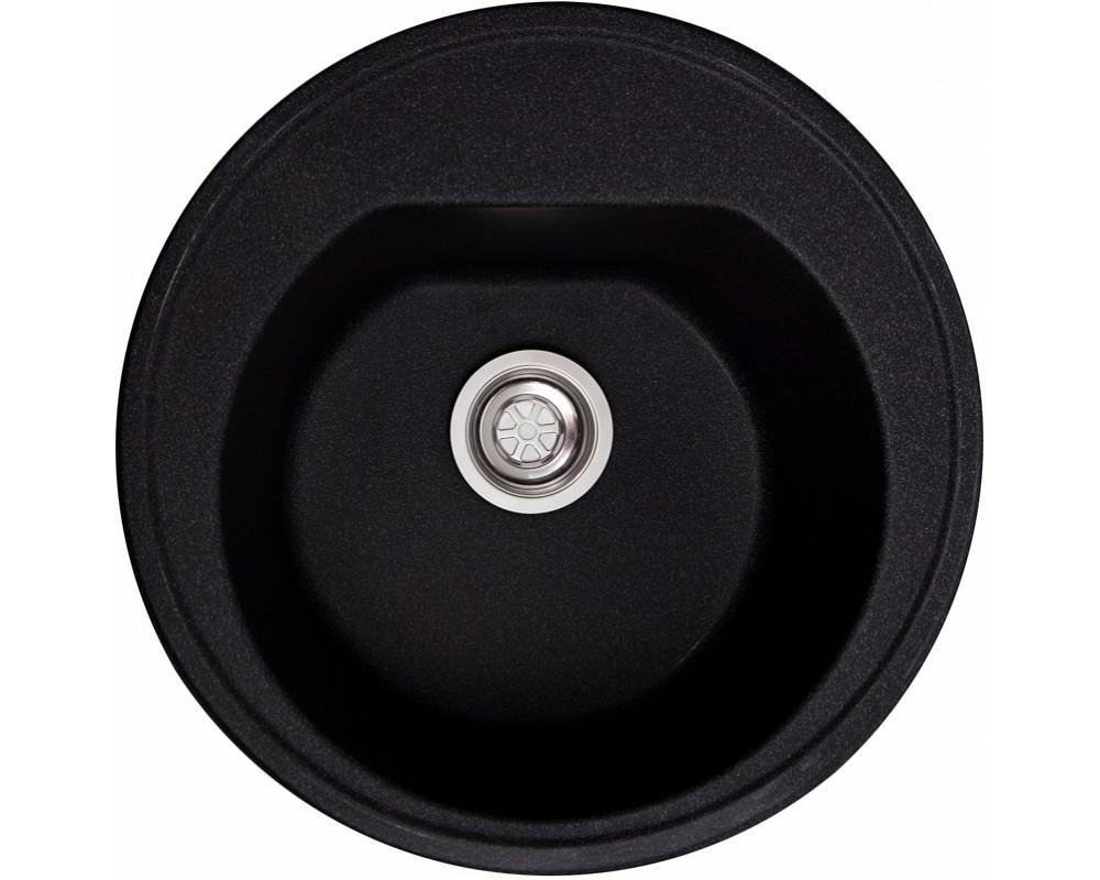 Круглая мойка Solid Classic Black