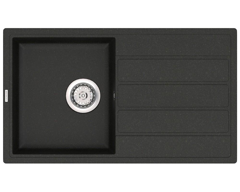 Гранитная мойка VANKOR Easy EMP 02.76 Black