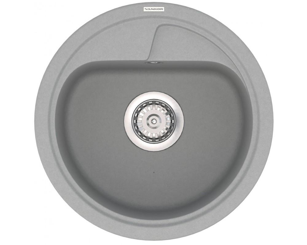 Гранитная мойка VANKOR Polo PMR 01.45 Gray