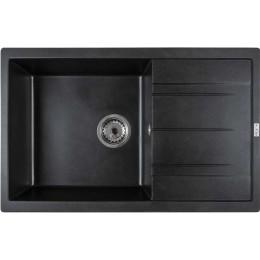 Мойка кухонная DIAMANTE (BLACK QUARTZ) 760х480х180