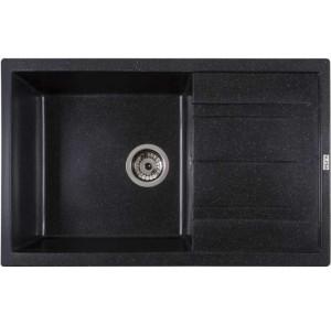 Кухонная мойка Ventolux DIAMANTE (SPACE BLACK) 765x485x200