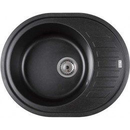 Каменная мойка кухонная MONICA (BLACK QUARTZ) 610x495x210
