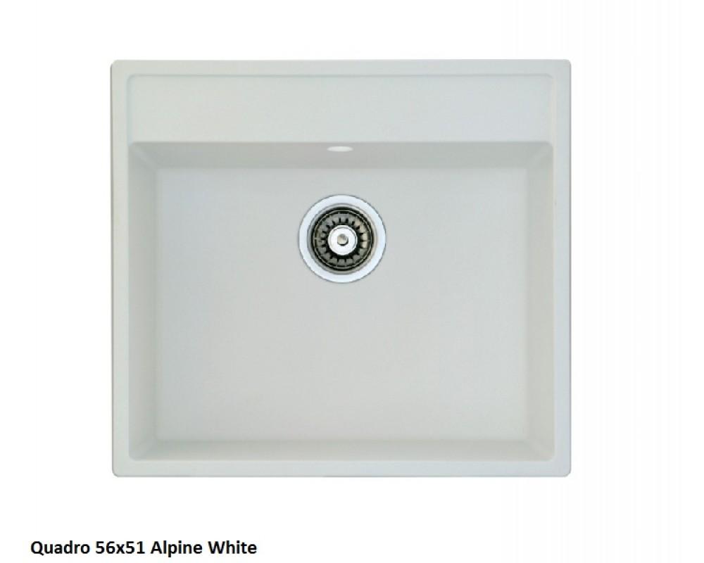 Кухонная мойка Fabiano Quadro 56x51 Alpine White
