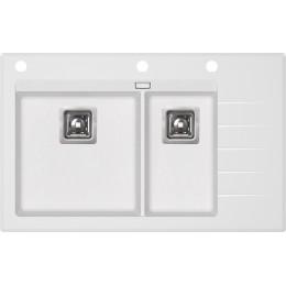 Кухонная мойка AquaSanita Delicia Plus GQD-150W/ 710 alba - With