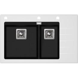 Кухонная мойка AquaSanita Delicia Plus GQD-150W/ 601 black metallic