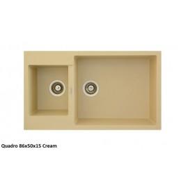 Мойка Fabiano Quadro 86x50x15 Cream