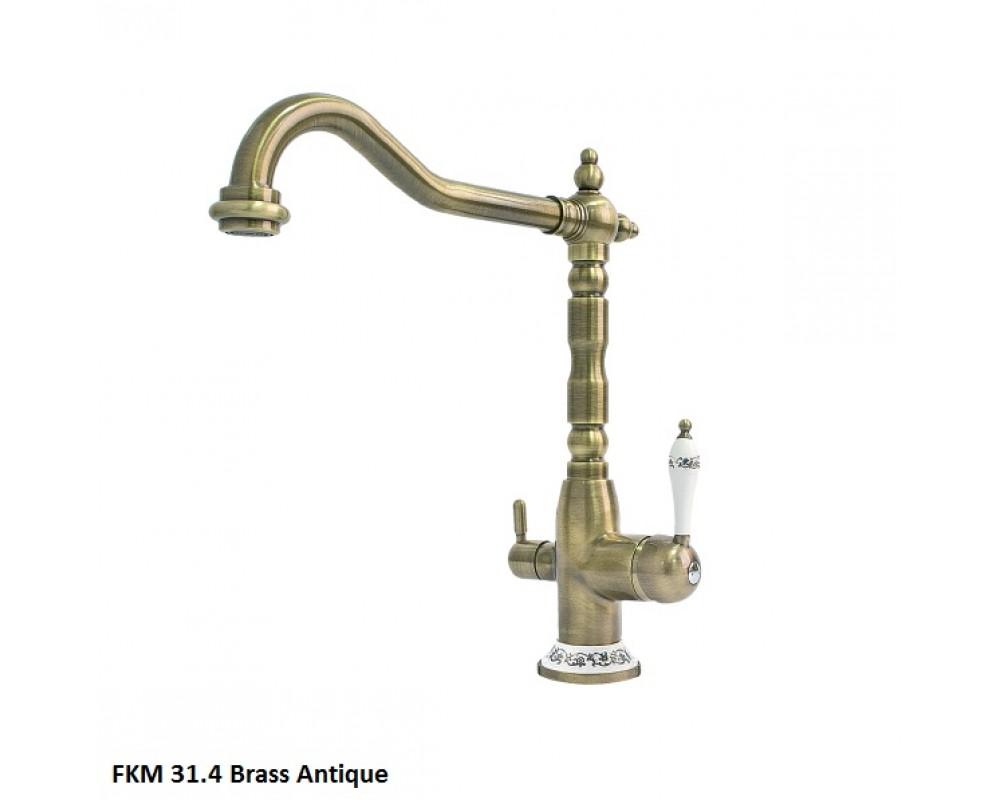 Кухонный смеситель Fabiano FKM 31.4 Brass Antique