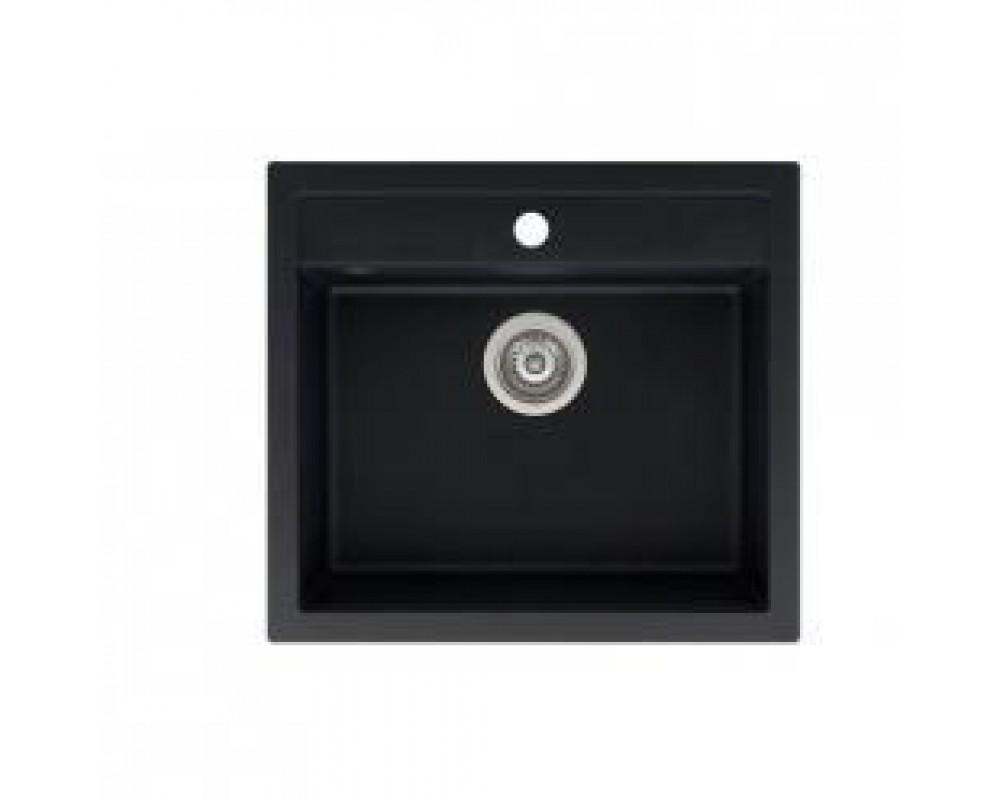 Кухонная мойка AQUASanita QUADRO SQQ-100 Черный металлик - 601