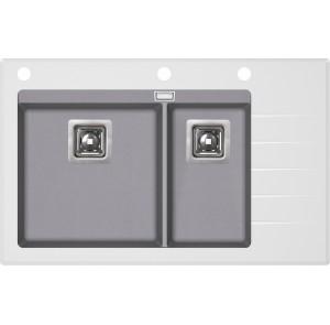 Кухонная мойка AquaSanita Delicia Plus GQD-150W/ 202 alumetallic