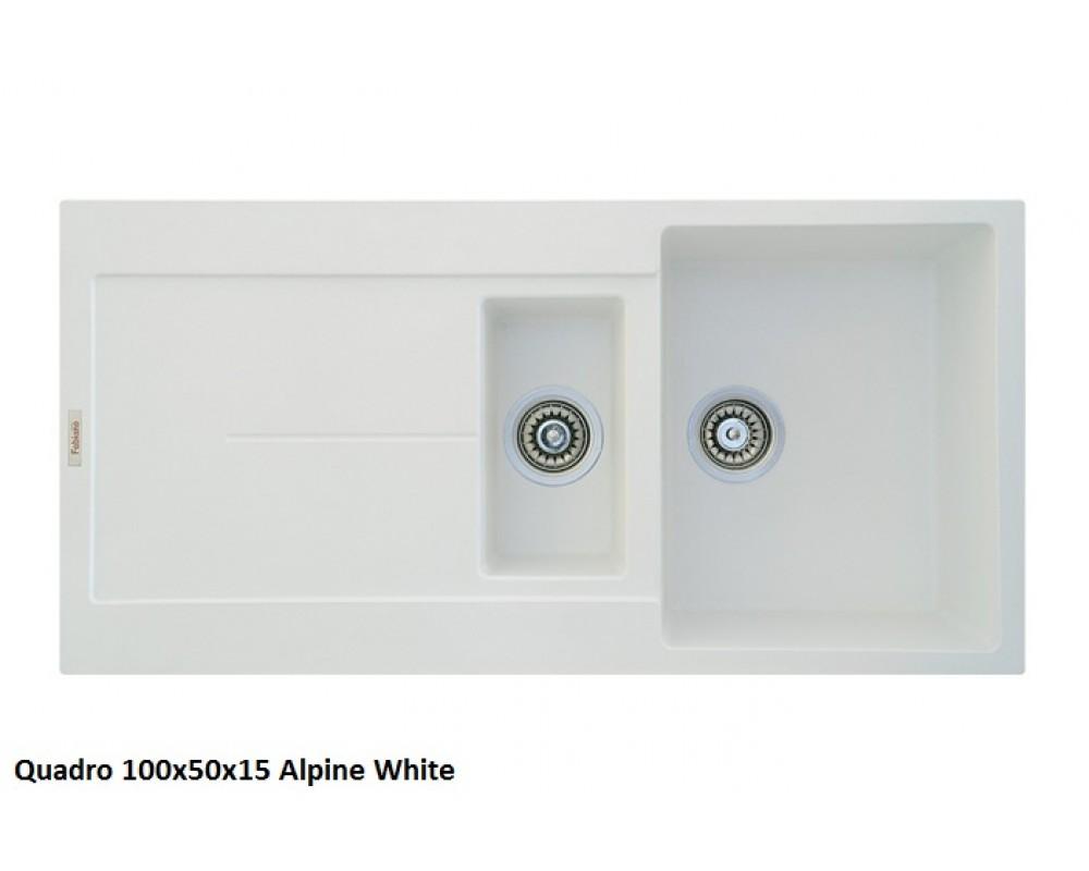 Кухонная мойка Fabiano Quadro 100x50x15 Alpine White