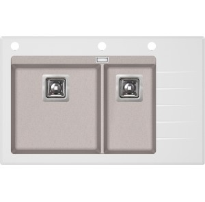 Кухонная мойка AquaSanita Delicia Plus GQD-150W/ 110 beige