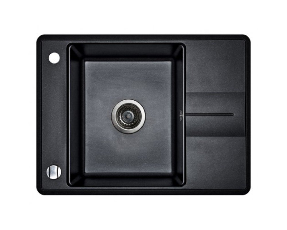 Кухонная мойка AQUASanita Bella-small SQB 102 Черный металлик 601