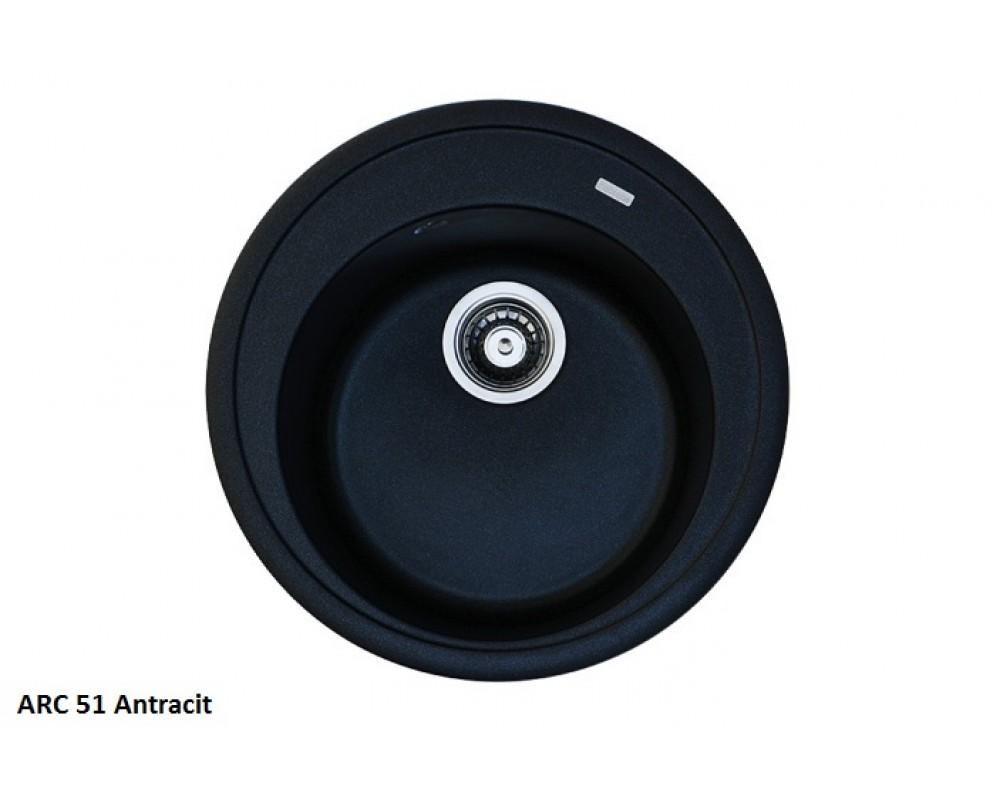 Кухонная мойка Fabiano ARC 51 Antracit