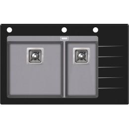 Кухонная мойка AquaSanita Delicia Plus GQD-150B/ 202 alumetallic - Cold Grey