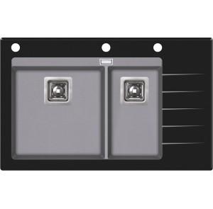 Кухонная мойка AquaSanita Delicia Plus GQD-150B/ 202 alumetallic