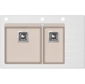 Кухонная мойка AquaSanita Delicia Plus GQD-150W/ 111 silica