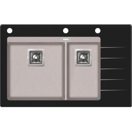 Кухонная мойка AquaSanita Delicia Plus GQD-150B/ 110 beige - Sand