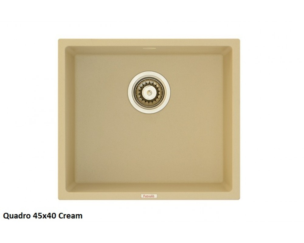 Кухонная мойка Fabiano Quadro 45x40 Cream