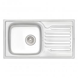Кухонная мойка Qtap 7843 Satin 0,8 мм (QT7843SAT08)